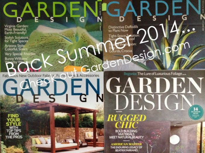Delightful Garden Design Magazine Is Back In 2014, Website Live Now!