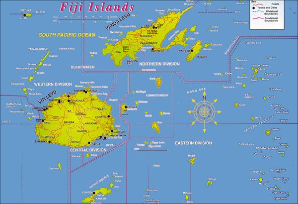 Large detailed Fiji Islands map Fiji Islands large detailed map