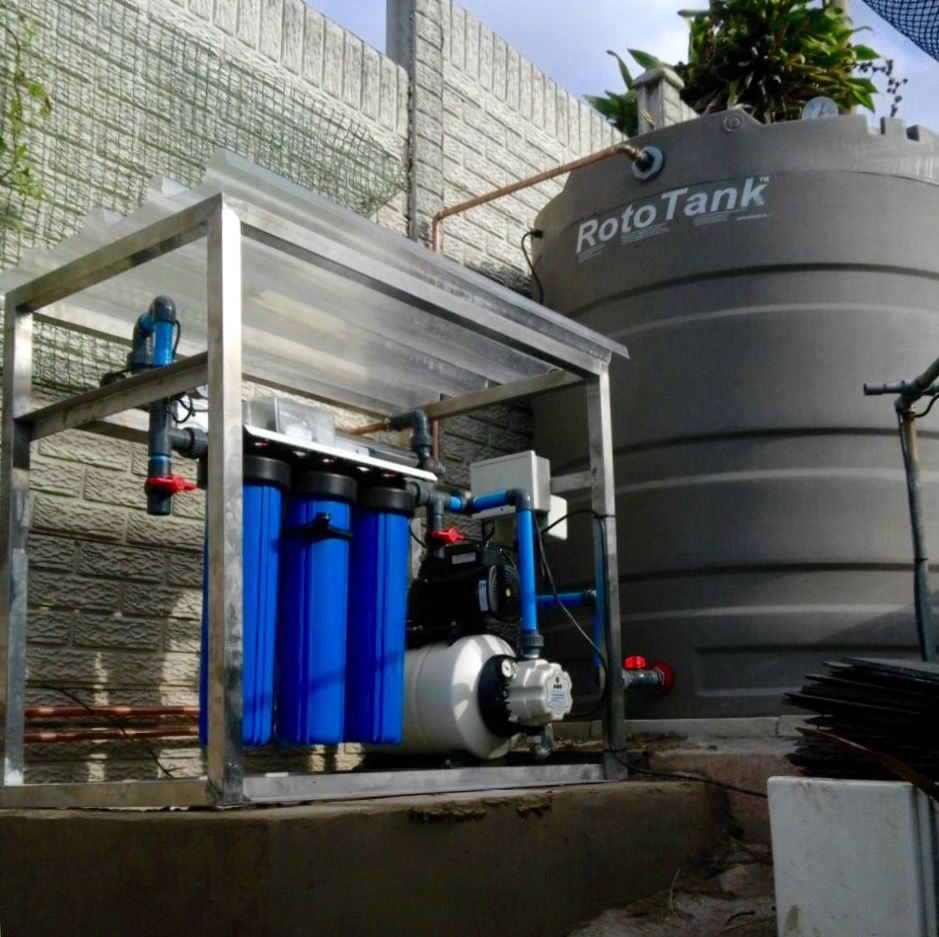Rainwater tank design ideas get inspired by photos of rainwater - Rainwater Harvesting Water Purification Unit Connected To A 5000l Rainwater Tank