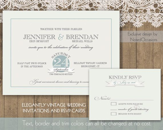 Printable Wedding Invitation Template  Vintage Wedding