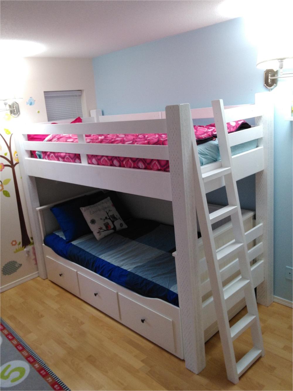 Ikea Stuva Loft Bed Hack Custom Loft Bed Built To Wrap The Ikea Hemnes Daybed Kids Room Stuva Loft Bed Bunk Bed With Slide Diy Loft Bed
