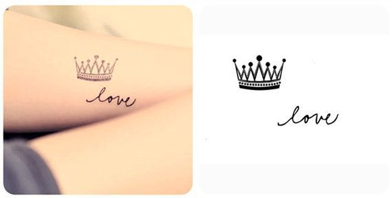 Gallery For Crown Tattoos On Neck Tattoo Krone Kleine Krone Tattoo Fingertattoo