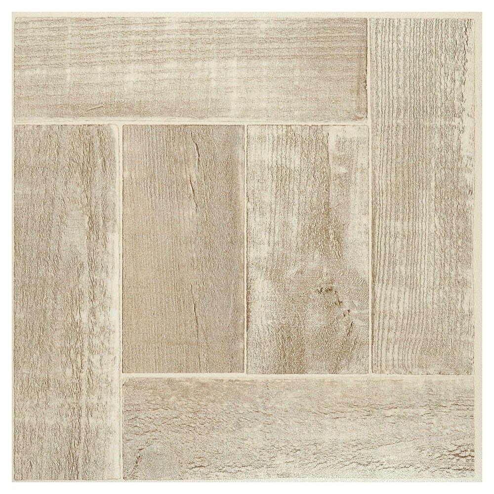 Nexus self adhesive vinyl floor 20 tiles saddlewood 12x12 nexus saddlewood 12 inch x 12 inch self adhesive vinyl floor tile 20 tiles white dailygadgetfo Images