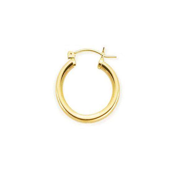 acc37c959 14K Gold Hoop Earrings - Classic Hoop Earrings - Small Hoop Earrings For  baby, Kids or Adult in Yel