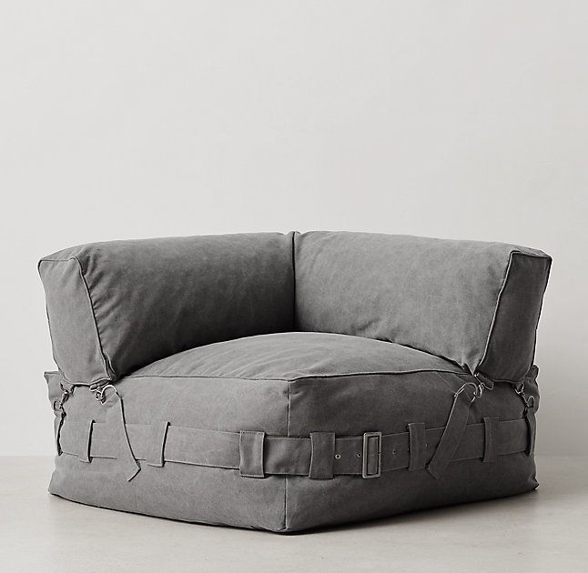 Cargo Lounge Corner Chair from RH Teen  Beanbag chairs