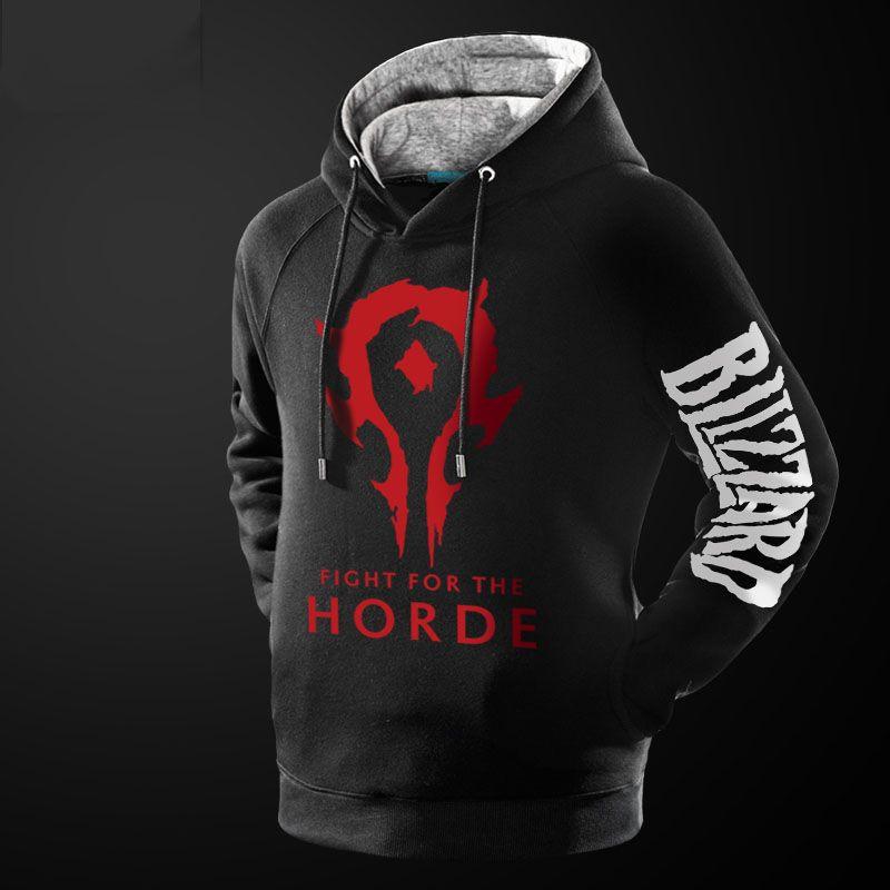 World Of Warcraft Horde Hoodie WOW Black Pullover Sweatshirt