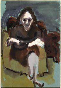 mujer sentada - (Mark Rothko (Marcus Rothkowitz))