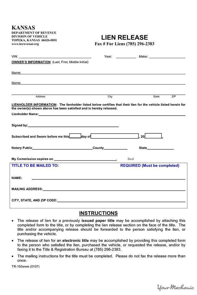 lien release form HOW TO TELL IF A VEHICLE HAS A LIEN Camping - lien release form