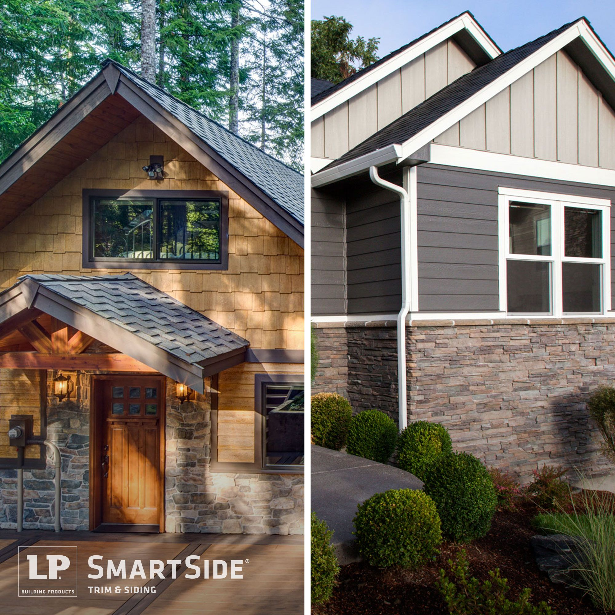 Dare To Compare The Siding And Color Variations On The Exterior Of These Two Homes Which Style Do You Prefer Left O Siding Trim Wood Siding Trim Wood Siding