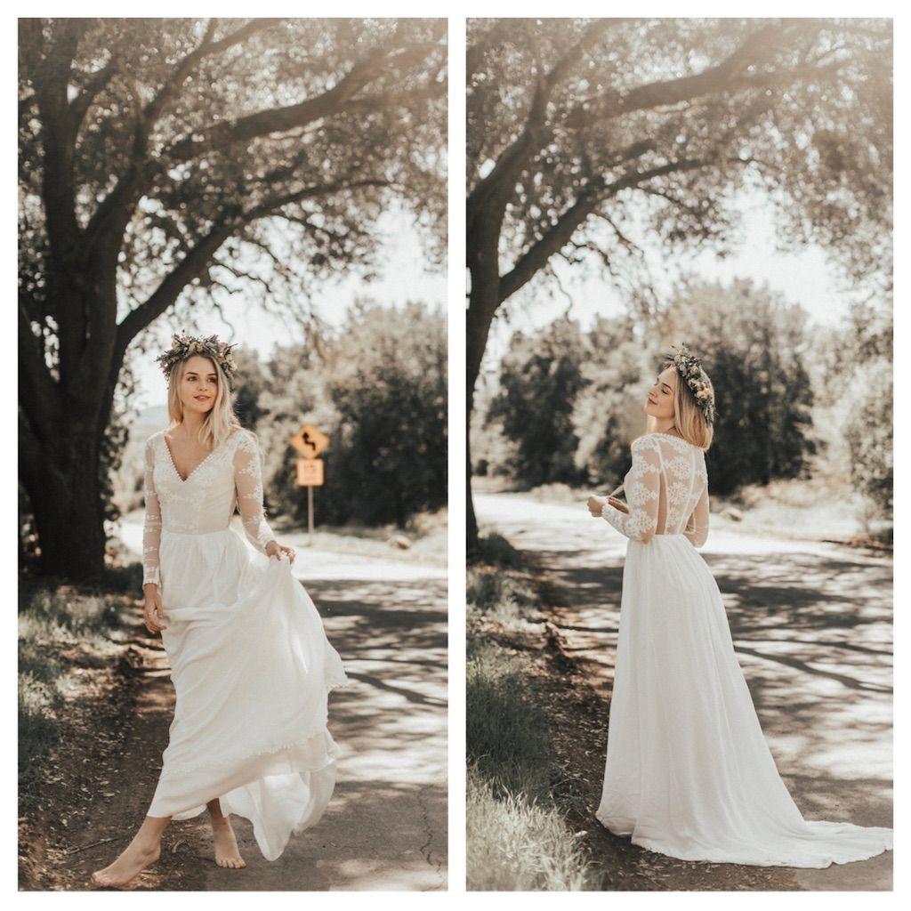 Dreamy Simple Bohemian Wedding Dresses Handmade For The Boho Bride In Los Angeles California Ships World Wedding Dresses Simple Boho Style Wedding Boho Wedding [ 1024 x 1024 Pixel ]