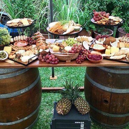 Wedding table outdoor wine barrels 68+ ideas | Wedding ...