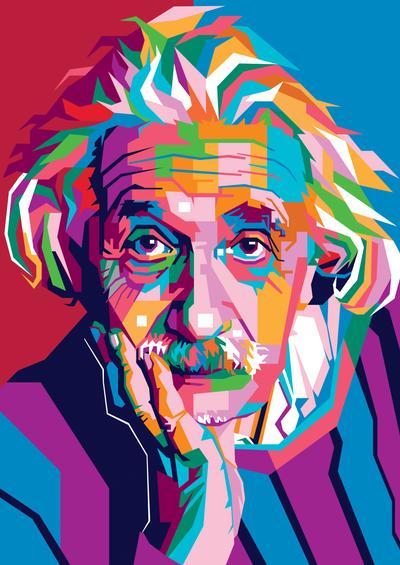 Albert Einstein By Vinartvin On Deviantart Pop Art Portraits Albert Einstein Amazing Art Painting