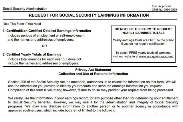 How to Find Your Employment History WORK STUFF Pinterest Dream - social security request form