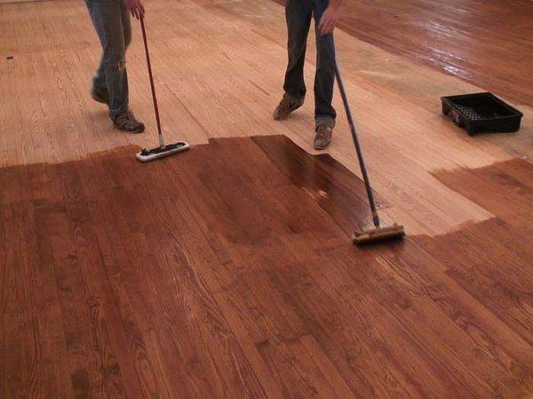 How To Stain Wood Flooring Diy Floor Refisnish Instructions Make