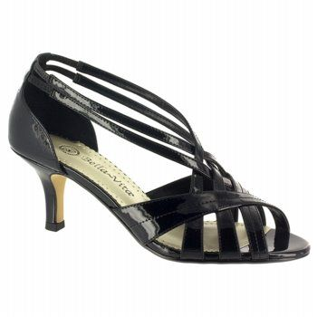 Bella Vita Lattice II Shoes (Black Patent) - Women's Shoes - 7.5 2A