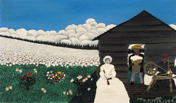 Pippin Horace Cabin In The Cotton Iv 1944 Oil On Canvas