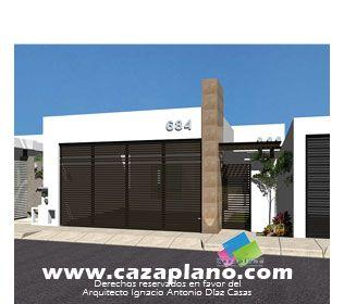 cocheras minimalistas casas