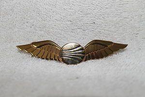 Vintage CONTINENTAL AIRLINES Pilot Flight Crew Uniform Wings Pin