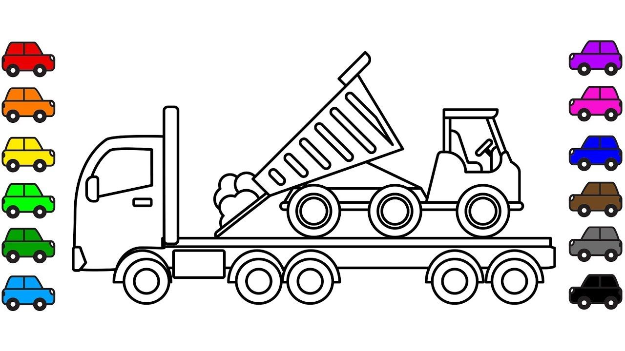 Dump truck coloring book construction vehicles coloring pages for