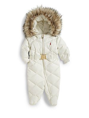 e7049659c Ralph Lauren Infant's Down Snowsuit | Generation Lux | Baby girl ...
