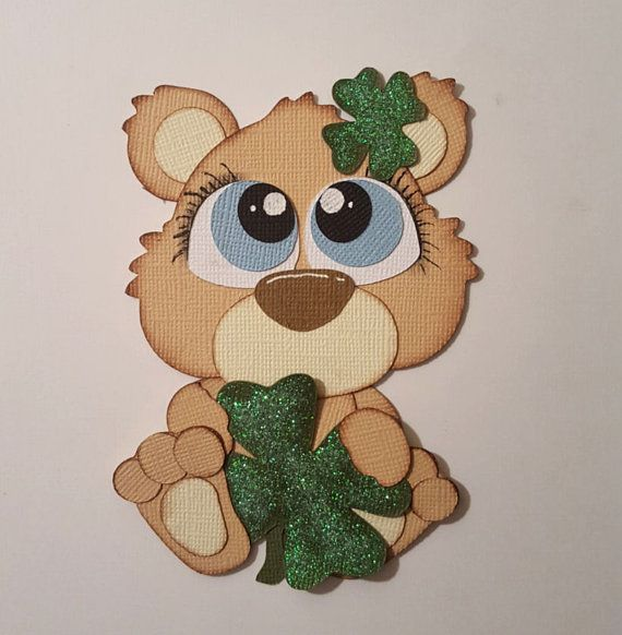 St. Patrick's Bear  paper piecing for by tootlebugdesigns on Etsy
