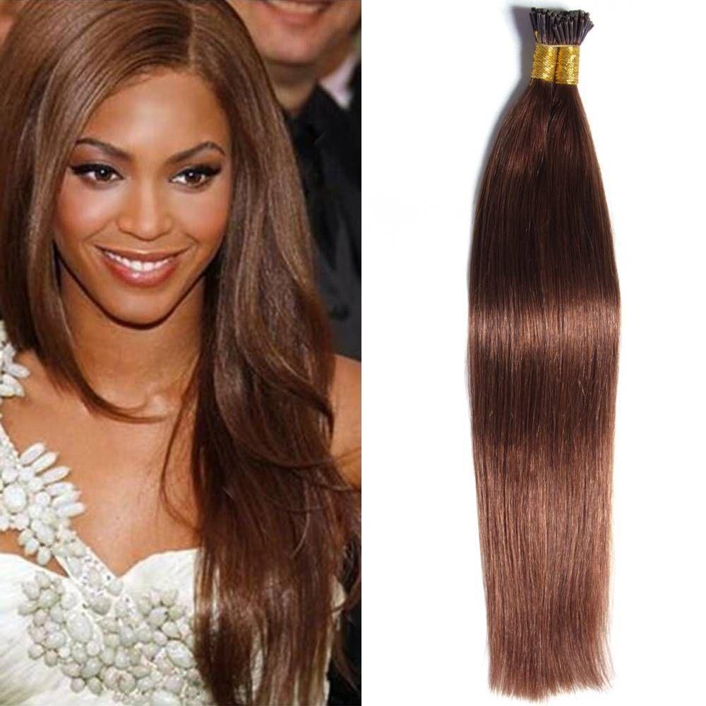 100 Sticks 18   Women Malaysian Pre-Bonded I Tip Virgin Hair Extensions 50G b59aa1b754