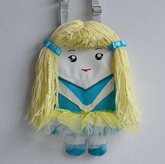 Handbag doll for girls. Charming ballerina in by NinuMiluBagDolls,