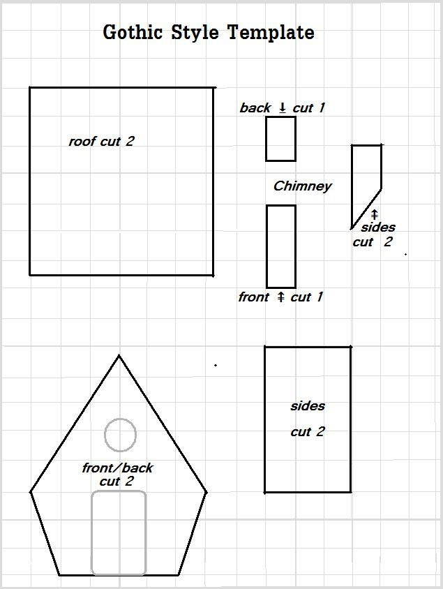 gothic gingerbread house template  This is the first in a series of three Gingerbread House ...