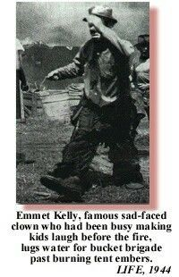Forrestal Barnum and Bailey circus tent fire 1944  sc 1 st  Pinterest & Forrestal Barnum and Bailey circus tent fire 1944 | Emmett Kelly ...