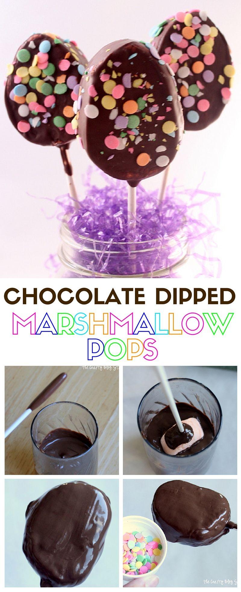 Chocolate DippedMarshmallow Pops | EasterTreat for Kids | DIY | Dessert Recipe | CandiQuik