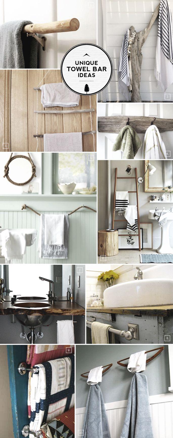 Unique Ideas For Bathroom Towel Bars, Unique Towel Bars For Bathrooms