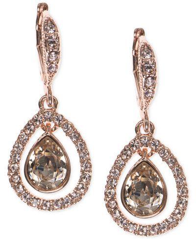 Givenchy Crystal Orbital Pavé Drop Earrings