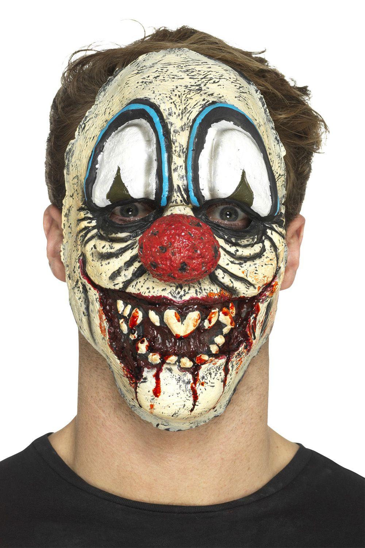 Halloween Maschere.Smiffys Pagliaccio Malefico Costume O Maschere Spaventosa Circo