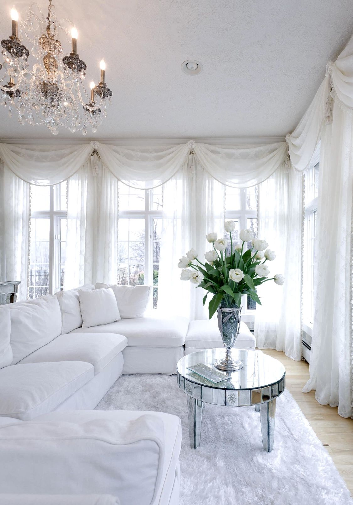 Best All White Living Room Decor With Restoration Hardware 400 x 300