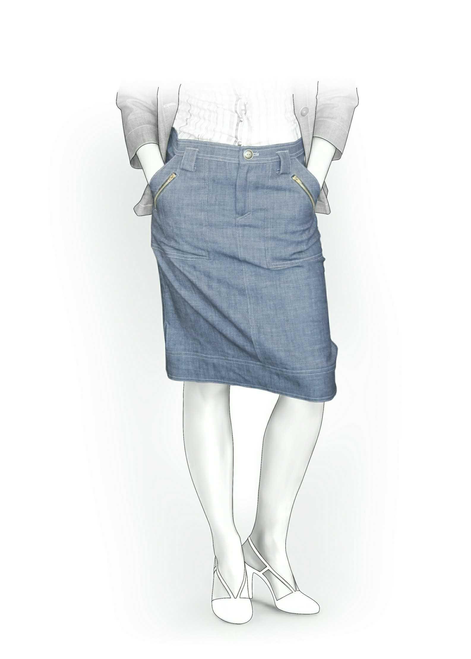 Falda  - Patrón de costura #5871 Patrón de costura a medida de Lekala con descarga online gratuita.