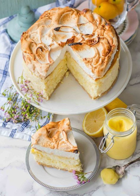 Triple Lemon Meringue Cheesecake (video) - Tatyanas Everyday Food
