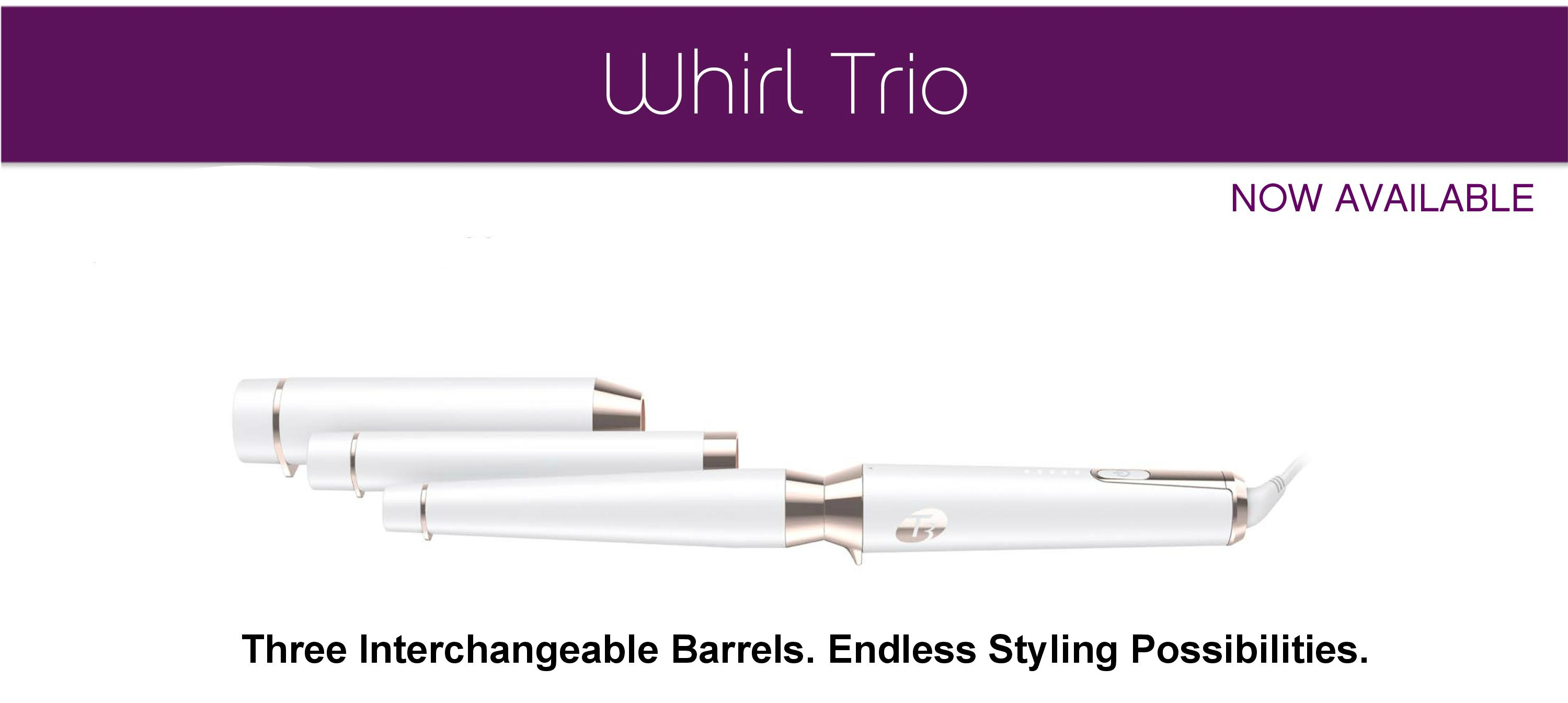 T3 Professional Grade Styling Iron with 3 Interchangeable Barrels!