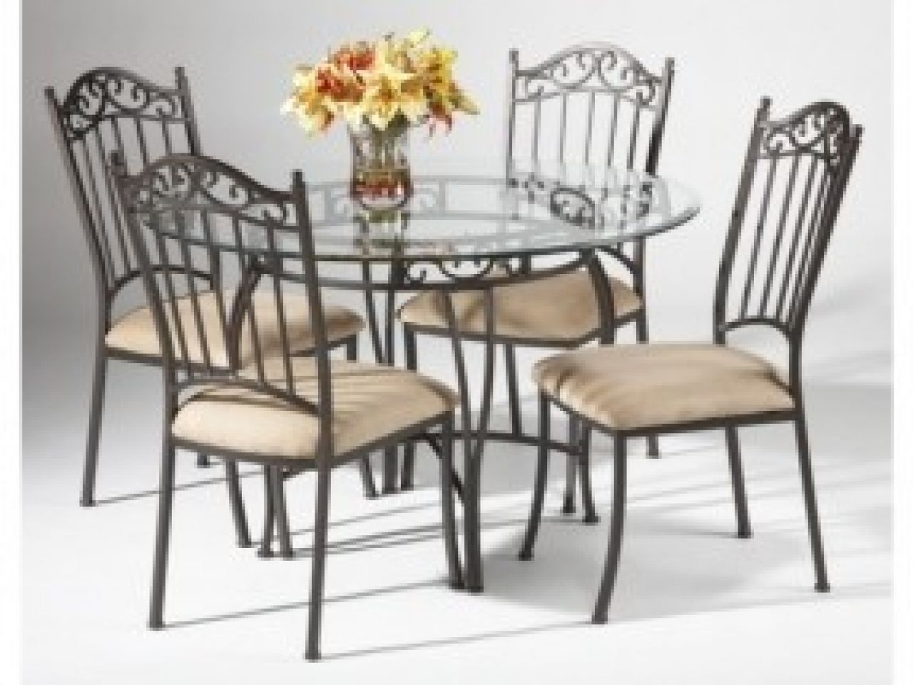 Glass And Wrought Iron Kitchen Table Sets Http - Glass and wrought iron dining table and chairs