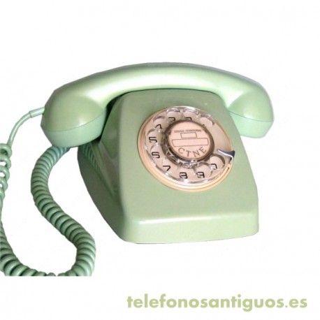Telefono Antiguo Heraldo Verde Años 70 Telephones Desk Phone Phone