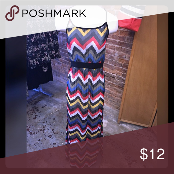 Multicolor Maxi Dress Brand new with tags! Slightly see through could wear a tight back tank dress under it or wear as a swim cover up! Bundles and offers accepted! Dresses Maxi
