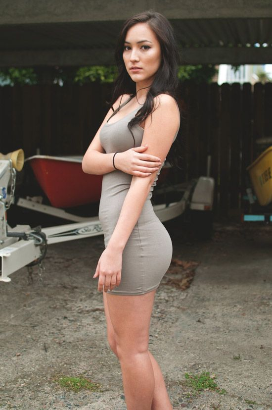 Sexy girls wearing tight dresses