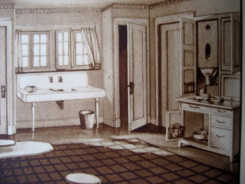 The alhambra 39 s kitchen as seen in the 1921 sears modern for Modern 1920 s kitchen