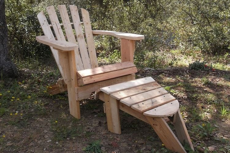 un fauteuil de jardin adirondack pinterest. Black Bedroom Furniture Sets. Home Design Ideas