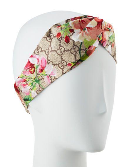 e723114fd3a GUCCI Gg Blooms Silk Headband
