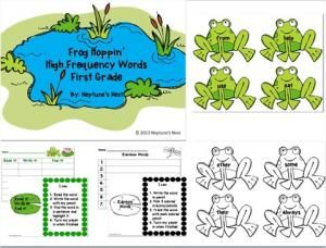 First Grade Frog Hoppin High Frequency Word Cards  Word Work Stations-Hurry up! This giveaway promotion ends at 11:59:59PM CST on 07-19-2013