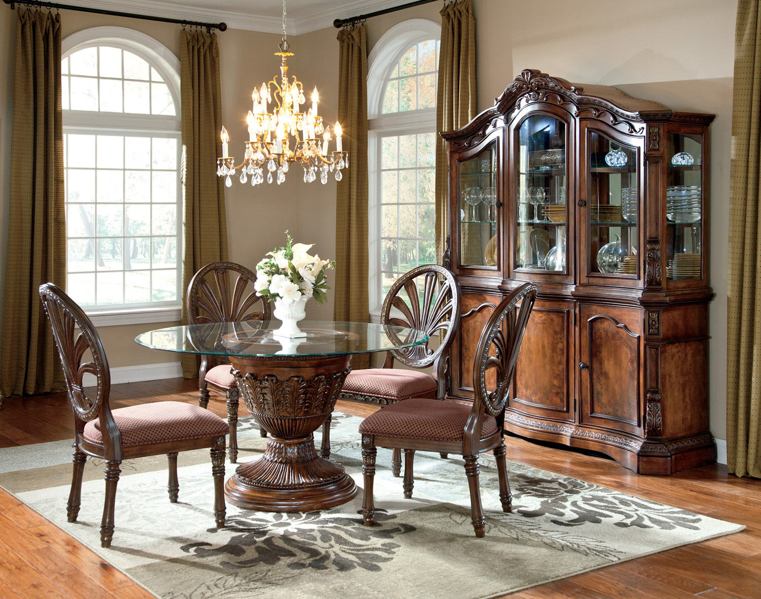 Ledelle Round Dining Room Table Dining Room Table Set Round Dining Room Round Pedestal Dining Table