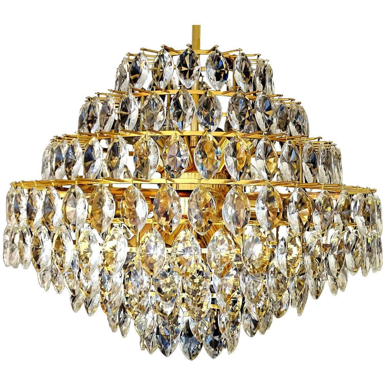 Large gilded lobmeyr chandelier 1960s pendant lamp pendant lamps large gilded lobmeyr chandelier 1960s pendant lamp aloadofball Image collections