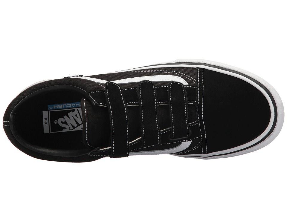 09670d28cbb84e Vans Old Skool V Pro Men s Skate Shoes Black White