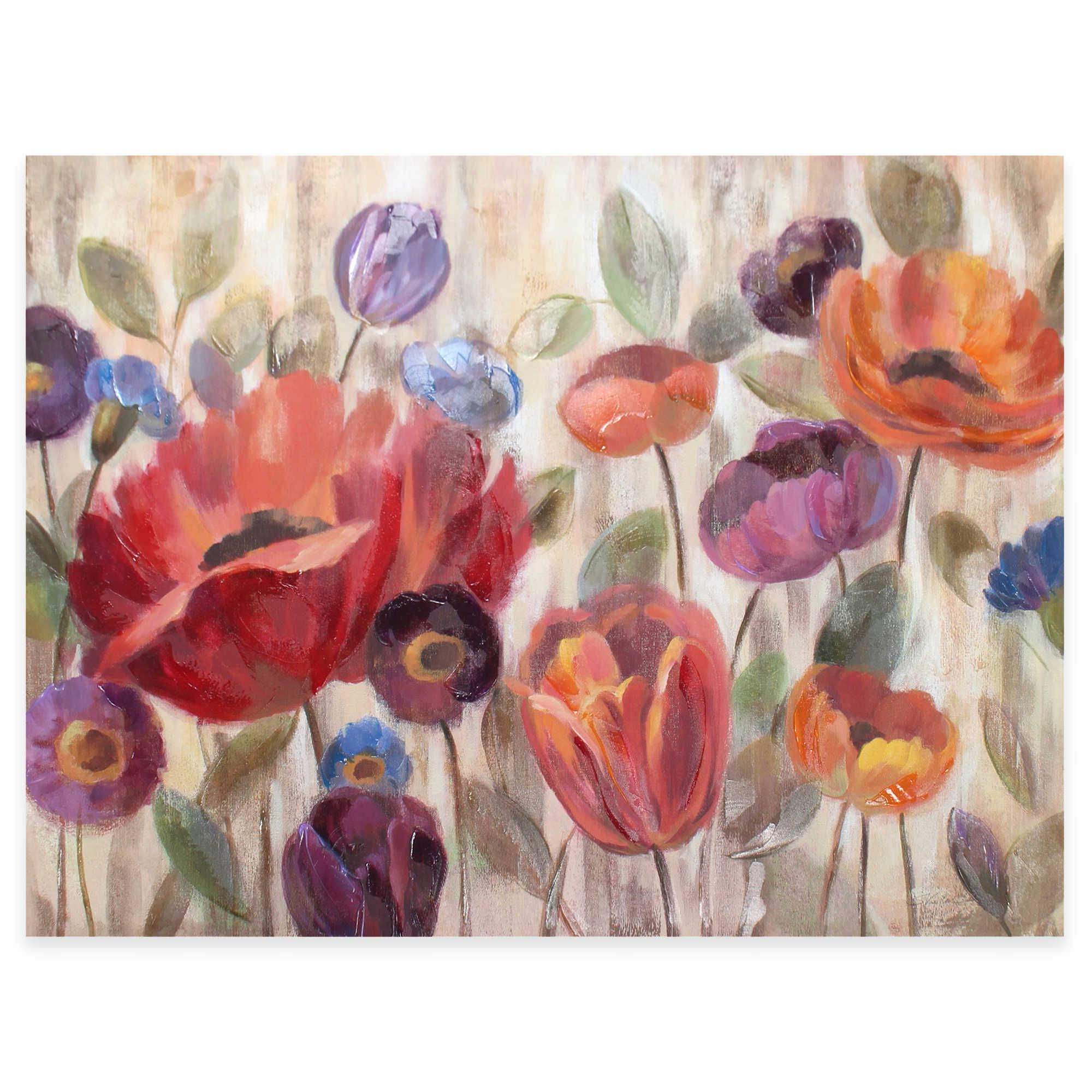 Garden Glow Canvas Wall Art bed bath & beyond