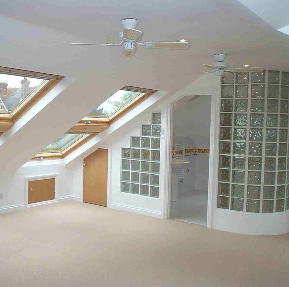 Loft bedroom privacy ideas  Attic room with privacy glass dividers  attic bathroom  Pinterest
